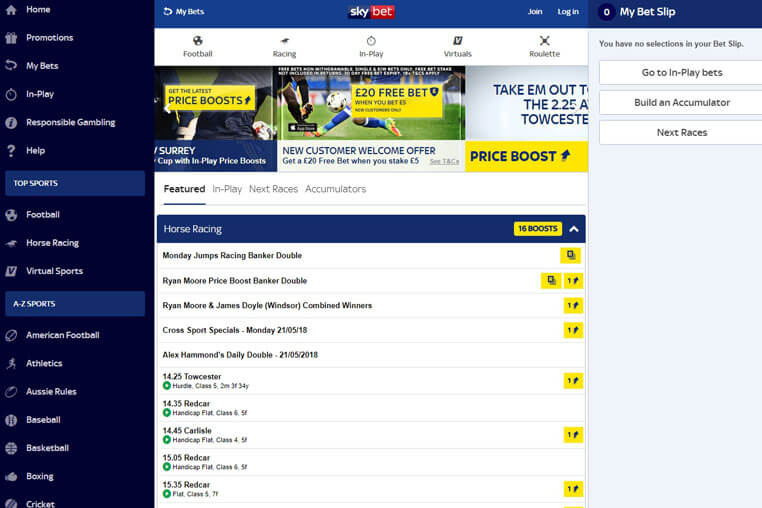 Sky Bet Promo Codes 2020 – Gain and Play With Bonus